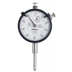 Mitutoyo - 2050S-01 - Continuous Reading Dial Indicator, AGD 2, 57mm Dial Size, 0 to 20mm Range