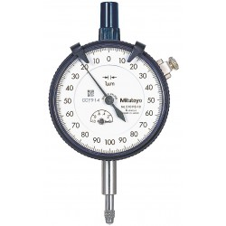 Mitutoyo - 2109SB-10 - Balanced Reading Dial Indicator, AGD 2, 2.400 Dial Size, 0 to 1mm Range