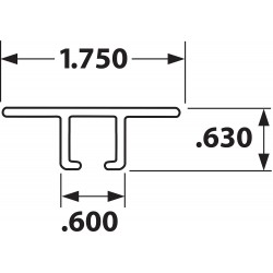 Tanis - AH100296CF - Strip Brush Holder, Sz 1.75, 96 In L, PK10