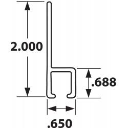 Tanis - AH100496CF - Strip Brush Holder, Sz 2 In, 96 In L, PK10
