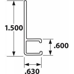 Tanis - AH100860CF - Strip Brush Holder, Sz 1.5, 60 In L, PK10
