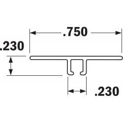 Tanis - AH250296CF - Strip Brush Holder, Sz 0.75, 96 In L, PK10