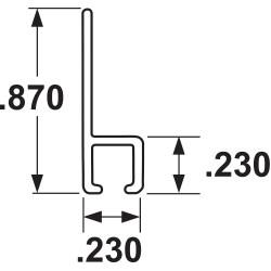 Tanis - AH250460CF - Strip Brush Holder, Sz 0.87, 60 In L, PK10