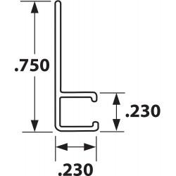 Tanis - AH250824CF - Strip Brush Holder, Sz 0.75, 24 In L, PK10