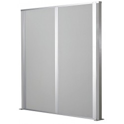 Porta-King - FSP128-ST - Partition, Free-Standing, Steel, 12L x 8H