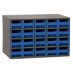 Akro-Mils / Myers Industries - 19320BLU - Drawer Bin Cabinet, 11 Overall Height, 17 Overall Width, Number of Drawers or Bins 20