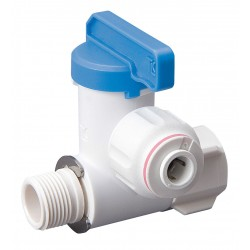 Mueller Industries - 645-000HC - Polysulfone Male Compression x Female Compression Stop Valve Adapter, 1/4 Tube O.D.