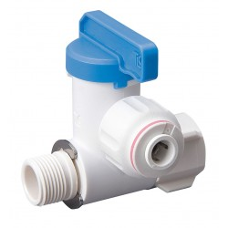Mueller Industries - 645-001HC - Polysulfone Male Compression x Female Compression Stop Valve Adapter, 3/8 Tube O.D.