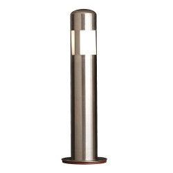Calpipe - SSLS12050-S-D - 48H Stainless Steel Bollard Cover For Post Size with 12-3/4 dia., Silver
