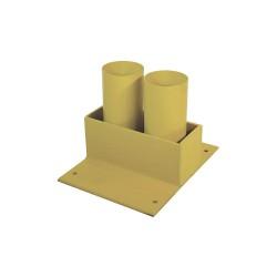 Calpipe - STS302P-Y - Yellow Bollard Storage Rack, Padlockable Locking System, 4 Bollard Outside Dia.
