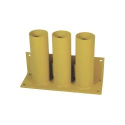 Calpipe - STS303P-Y - Yellow Bollard Storage Rack, Padlockable Locking System, 4 Bollard Outside Dia.