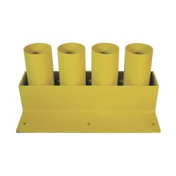 Calpipe - STS304P-Y - Yellow Bollard Storage Rack, Padlockable Locking System, 4 Bollard Outside Dia.