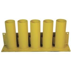 Calpipe - STS305P-Y - Yellow Bollard Storage Rack, Padlockable Locking System, 4 Bollard Outside Dia.