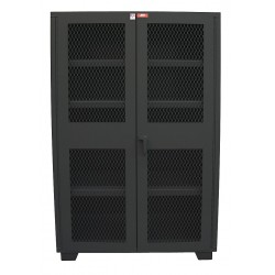 Jamco Products - DJ136-BL - Storage Cabinet, Black, 78 Overall Height, Assembled