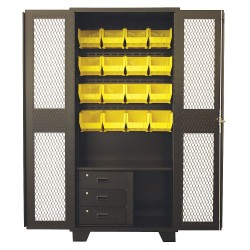Jamco Products - GF236-BL - Bin Cabinet, 78 Overall Height, 36 Overall Width, Total Number of Bins 16