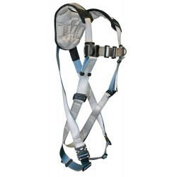 Falltech - G7087M - FlowTech Full Body Harness with 310 lb. Weight Capacity, Silver, M