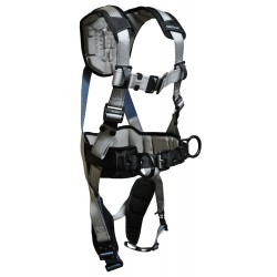 Falltech - G7089M - FlowTech Full Body Harness with 310 lb. Weight Capacity, Silver, M