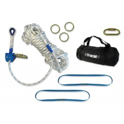 Fallstop - H66500 - Horizontal Lifeline, 60 ft. Length, Temporary Installation, 3 Workers Per System