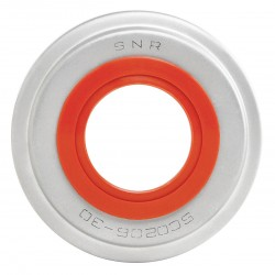 NTN-SNR - SC0U207-23 - Bearing End Cap, Open, SS, Dia. 1-7/16 In