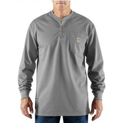 Carhartt - 100237-051 2X - Gray Flame-Resistant Henley Shirt, Size: 2XL, Fits Chest Size: 50 to 52, 8.9 cal./cm2 ATPV Rating