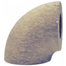 Iig 592098 1 thick mineral wool 90 elbow pipe fitting for Mineral fiber insulation r value