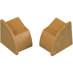 D-Line - US/ECAP22QSP - ABS Cable Protector End Cap For Use With Mfg. No. US/R2D22QSW/GR in Conjunction with 1/4 Round Cord