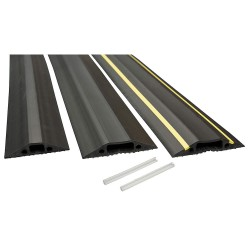 D-Line - US/FC83B - Drop Over 1-Channel Floor Cable Cover, Black, 6 ft.
