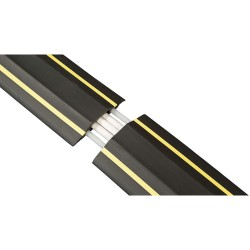 D-Line - US/FC83H - Drop Over 1-Channel Floor Cable Cover, Black, Yellow, 6 ft.