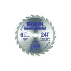 "IRWIN Industrial Tool - 15120 - IRWIN Classic Saw Blade - x 6.50"" Diameter - Straight Style - Corrosion Resistant, Rust Resistant, Carbide-tipped - Steel - 1 Each"