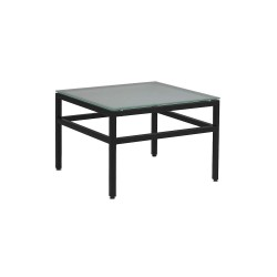 Ergocraft Contract Solutions - E-29715BK - End Table, Glass Top, Frosted Glass, 25 lb.