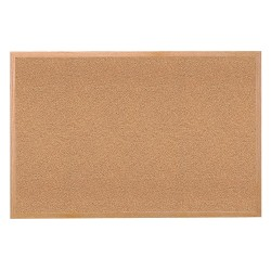 Ghent - 14231 - Ghent 1423-1 Bulletin Board - 36 Width - Tan Cork Surface - Self-healing, Laminated - Wood Frame - 1 Each