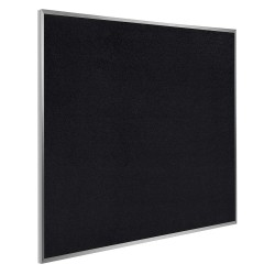 Ghent - ATR44-BK - Black Recycled Rubber Bulletin Board, Aluminum Frame Material, 48-1/2 Width, 48-1/2 Height