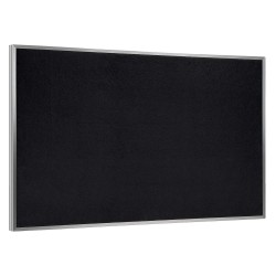 Ghent - ATR45-BK - Black Recycled Rubber Bulletin Board, Aluminum Frame Material, 60-1/2 Width, 48-1/2 Height