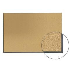 Ghent - ITGK-46 - Natural Cork Bulletin Board, Aluminum Frame Material, 72-1/2 Width, 48-1/2 Height
