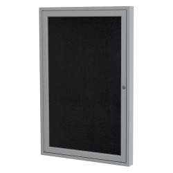 Ghent - PA13624TR-BK - Enclosed Bulletin Board, Tack, Blk