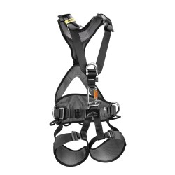 Petzl - C71AAA 1U - Full Body Harness with 310 lb. Weight Capacity, Black/Yellow, M/L