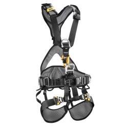 Petzl - C71CFA 0U - Full Body Harness with 310 lb. Weight Capacity, Black/Yellow, S/M