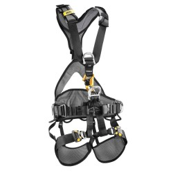 Petzl - C71CFA 1U - Full Body Harness with 310 lb. Weight Capacity, Black/Yellow, M/L