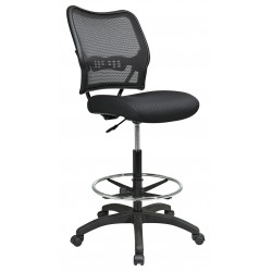 Office Star Products - 13-37N20D - Black Mesh Task Chair 19 Back Height, Arm Style: No Arms