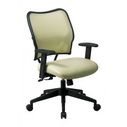 Office Star Products - 13-V66N1WA - Kiwi Fabric Desk Chair 19 Back Height, Arm Style: Adjustable