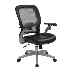 Office Star Products - 3680 - Black Mesh Desk Chair 22 Back Height, Arm Style: Adjustable