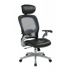 Office Star Products - 36806 - Black Mesh Desk Chair 22 Back Height, Arm Style: Adjustable