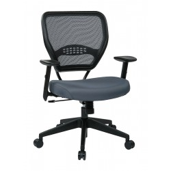 Office Star Products - 55-7N17-226 - Gray Fabric Desk Chair 19 Back Height, Arm Style: Adjustable