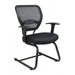 Office Star Products - 5505 - Black Mesh Side Chair 18-1/2 Back Height, Arm Style: Fixed