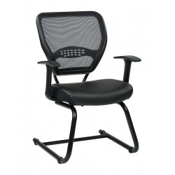 Office Star Products - 5705E - Black Mesh Side Chair 18-1/2 Back Height, Arm Style: Fixed