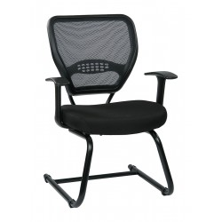 Office Star Products - 55-7V30-231 - Gray Fabric Desk Chair 20 Back Height, Arm Style: Adjustable