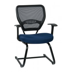 Office Star Products - 55-7V30-225 - Navy Blue Fabric Desk Chair 20 Back Height, Arm Style: Adjustable