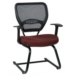 Office Star Products - 55-7V30-227 - Burgundy Fabric Desk Chair 20 Back Height, Arm Style: Adjustable