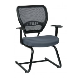 Office Star Products - 55-7V30-226 - Gray Fabric Desk Chair 20 Back Height, Arm Style: Adjustable