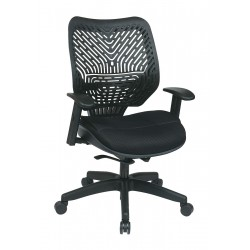 Office Star Products - 86-M33BN2W - Raven Mesh Desk Chair 19 Back Height, Arm Style: Adjustable